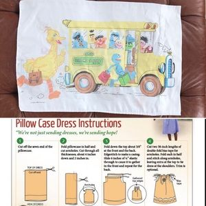 Vintage 70s Sesame Street Pillowcase Craft Dress?
